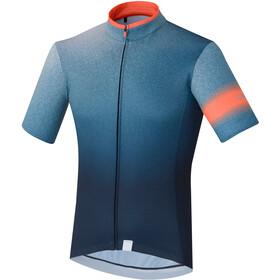 Shimano Mirror Cool Fietsshirt korte mouwen Heren blauw